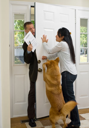 Unpleasant Greeting Of Guests: Barking, Jumping, Running Out The Front Door, Growling